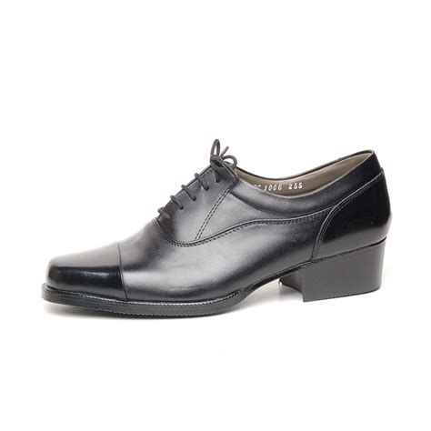 s leather oxford shoes s cap top black leather open lacing oxford shoes