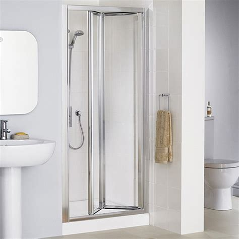 bifold shower door lakes 700mm framed bi fold shower door