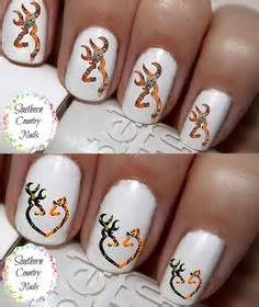 Stiker Camo Camouflage 138 orange real tree camo nails pink camo nails
