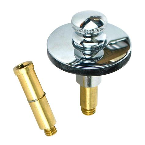 diy bathtub stopper watco push pull bathtub stopper with 3 8 in to 5 16 in pin adapter in chrome plated