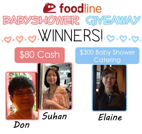 Baby Giveaways 2014 - baby shower giveaway win baby shower catering or 80 cash from foodline