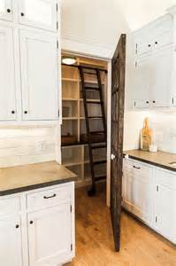 Wood Pantry Doors by Reclaimed Barn Wood Pantry Door With Ladder Cottage Kitchen