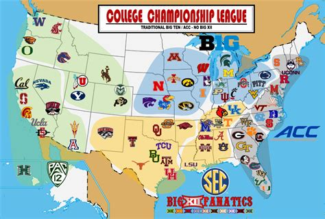 big ten map the ultimate realignment plan big 12 fanatics