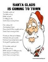santa claus coming town lyrics fun teaching