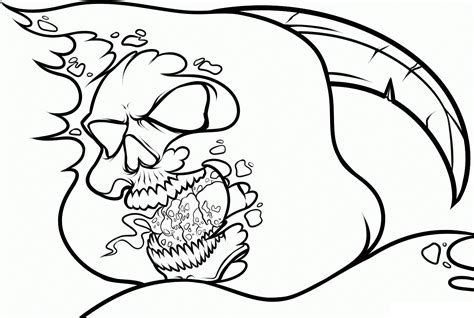 Free Skull Coloring Pages Free Printable Skull Coloring Pages For Kids by Free Skull Coloring Pages