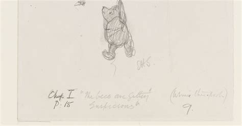 Sketches H by Eh Shepard S Original Winnie The Pooh Drawings To Go On