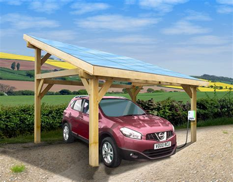 Port Car by Solar Car Port Renault Zoe Electric Car