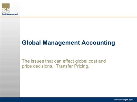 Global Mba Fees by Issues In Global Management Accounting Transfer Pricing