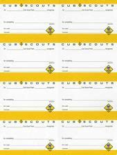 cub scout advancement card templates cub scout adventure pocket certificate 8 sheet scout