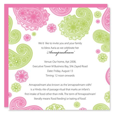 naming ceremony invitation template paper couture stationery hindu naming ceremony invitations