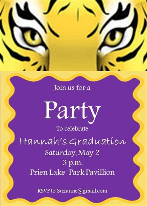 louisiana state colors tiger invitations by preppyprintslc on etsy lsu tigers