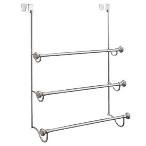 Shower Door Towel Rack Interdesign York Metal Shower Door 3 Bar Towel Rack In Split 79150 The Home Depot