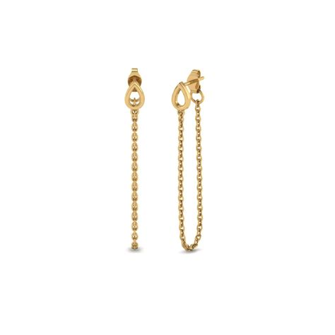 Drop Earring chain gold drop earring in 14k yellow gold fascinating