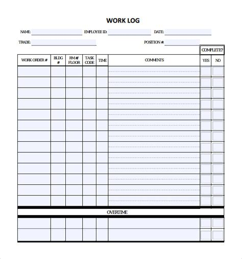 daily work log template work log sheet template pictures to pin on