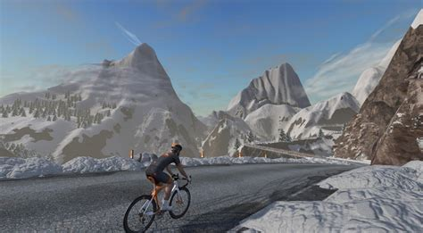 mountain takes zwift takes to new heights with watopia mountain expansion track bikerumor