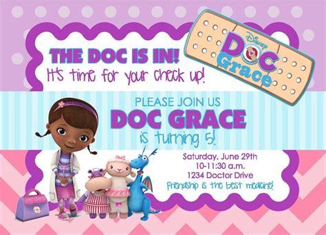 Doc Mcstuffins Birthday Party Invitation By Lifeonpurpose On Etsy 5 00 Birthday Party Ideas Doc Invitation Template