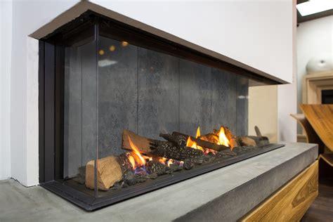 designer interior  modern gas fireplaces concrete