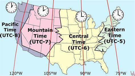 usa time zone with map most popular time zone map of the usa whatsanswer