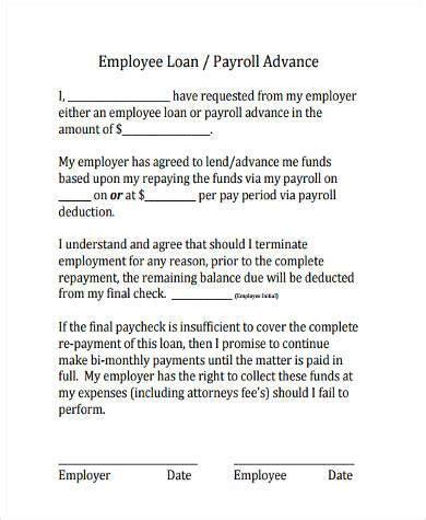 Sle Employee Loan Agreements 9 Free Documents In Word Pdf Employee Forgivable Loan Agreement Template