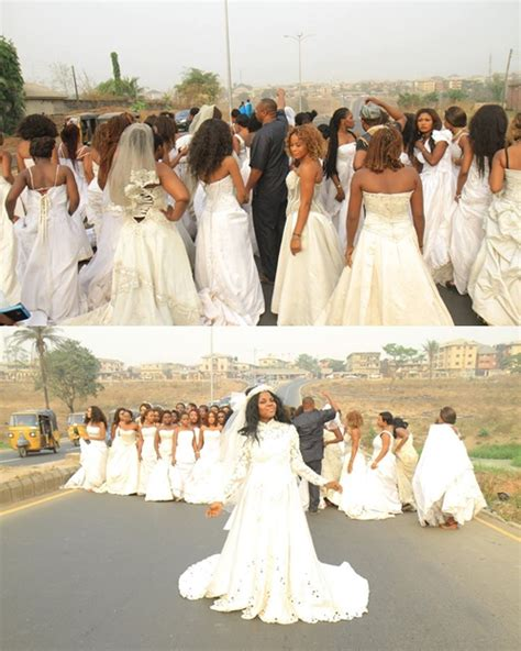 film 2017 owerri 40 brides in wedding gowns take over the streets of owerri
