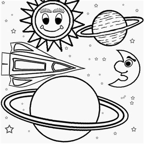 preschool coloring pages outer space printable solar system craft pics about space