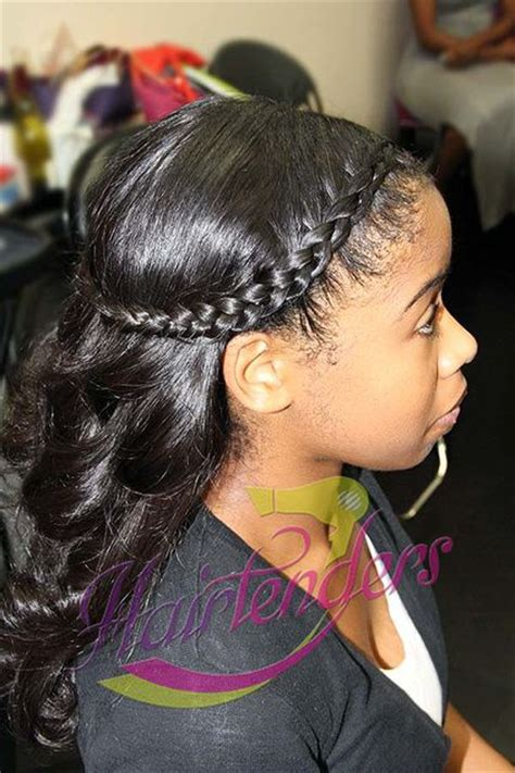 sew in hairstyles with braids halo braided crown braid with hairtenders signature sew in