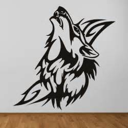 Wolf Wall Stickers Tribal Wolf Decorative Canine Wild Animals Wall Stickers