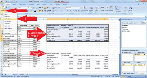 excel 2010 copy pivot table to new workbook excel copy