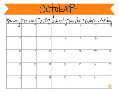 October 2015 Calendar Template 2017 Printable Calendar Free Downloadable Calendar Template