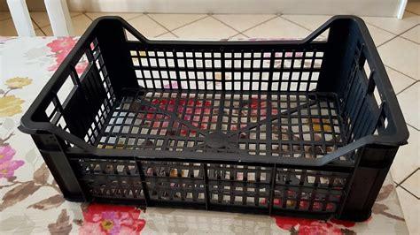 porta tutto riciclo cassetta della frutta in un nuovo box porta tutto
