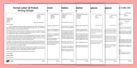 ks formal letter examples resource pack teacher