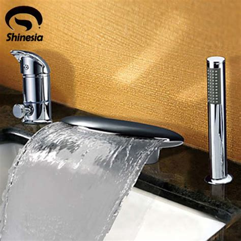 faucets bathtub faucets contemporary waterfall tub contemporary chrome finish widespread waterfall tub faucet