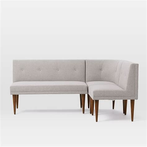build banquette build your own mid century banquette west elm
