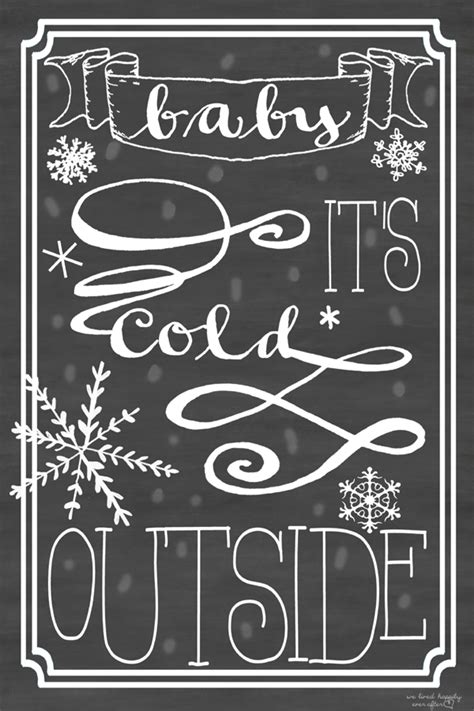 baby it s baby it s cold outside free printable we lived happily