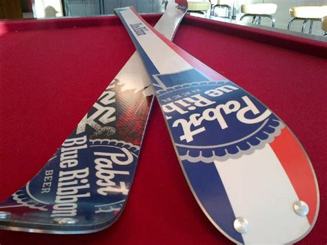 coors light skis for sale limited edition k2 pbr beer skis red white and blue