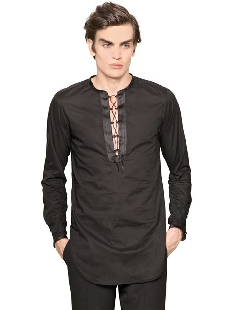 Tunik Jacket By Mlb 1 roberto cavalli cotton voile tunic shirt in black for lyst