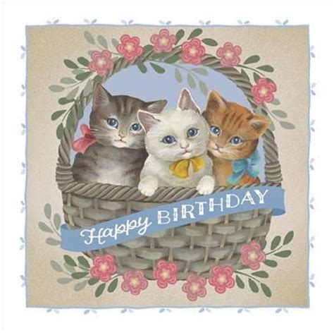 Cat Cards Birthday 88 Best Cat Birthday Cards Images On Pinterest Cat