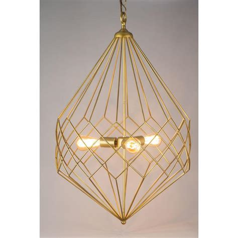 gold geometric pendant light large gold wire geometric pendant