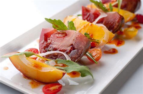 Simple Vegetarian Main Dishes - tomato and nectarine salad with a korean dressing recipe herbivoracious vegetarian recipe