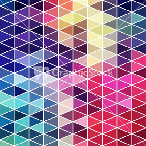 mosaic pattern congruent triangles geometric pattern of triangles shapes colorful mosaic