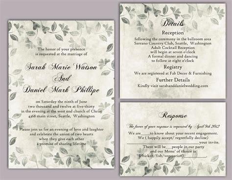 printable wedding invitation templates vintage diy rustic wedding invitation template set editable word