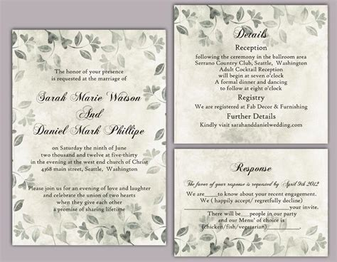 printable vintage invitation templates diy rustic wedding invitation template set editable word