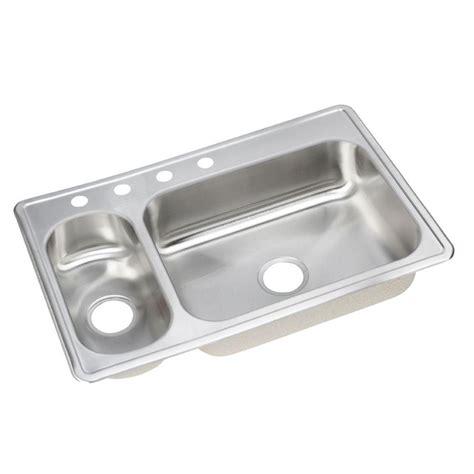 dayton double bowl kitchen elkay dayton elite top mount stainless steel 33x22x8 4