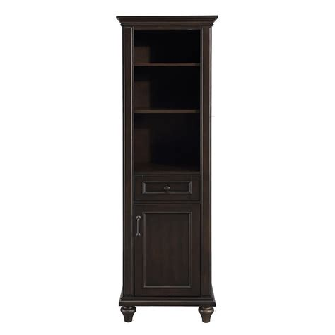 home decorators linen cabinet home decorators collection kenbridge 20 in w x 68 in h linen cabinet in burnished walnut