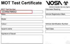 mot certificate new car new look mot certificate introduced business car manager