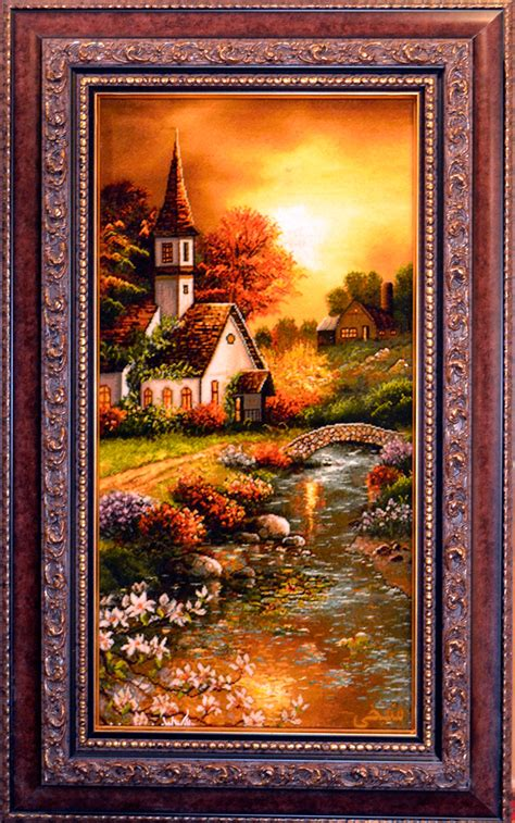 Church Rugs by Church By Kinkade Silk Tableau Rug Pictorial