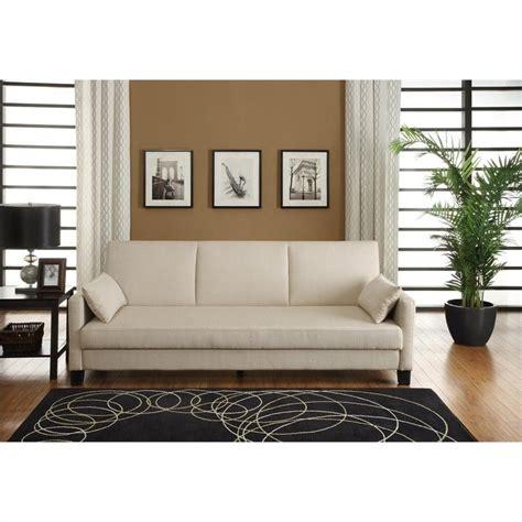 tan sleeper sofa vienna sofa sleeper with 2 pillows in tan linen 2012327