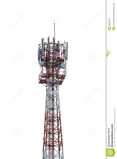 radio tower isolated  white background stock image image  tower satellite