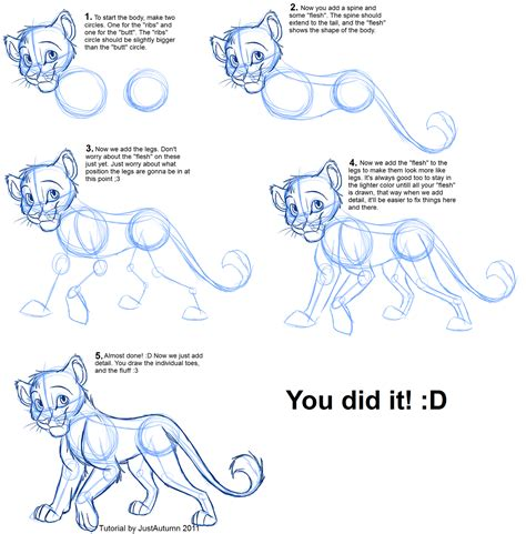 tutorial dance wolf how to draw felines body by justautumn on deviantart