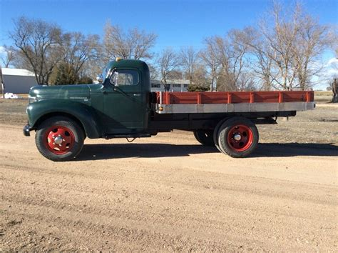 truck farm former farm truck 1948 international flat bed